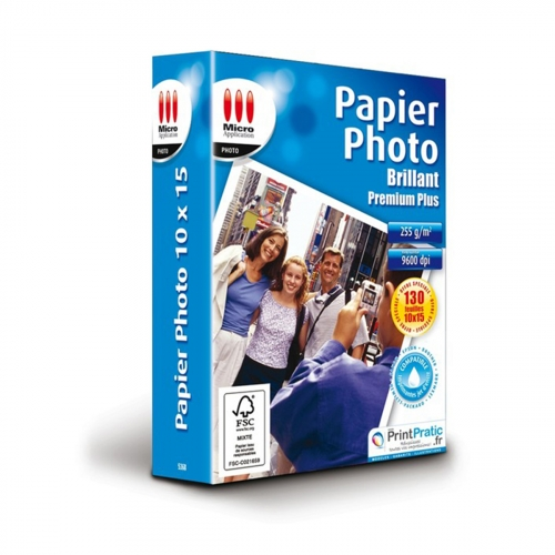 Papier photo brillant 10x15 cm - 130 feuilles