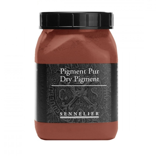 Pot de pigment or rouge