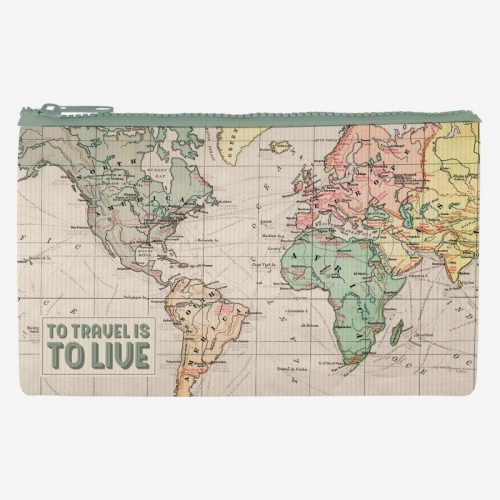Poche zippée - To travel is to live