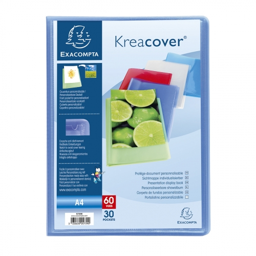 Prot ge documents krea cover 21x29 7 cm 60 vues for Protege document 60 vues