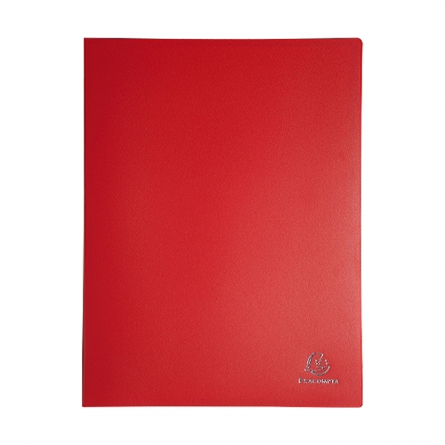 Prot ge documents 21x29 7 cm 60 vues rouge for Protege document 60 vues