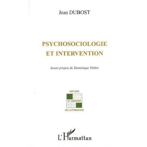 Psychosociologie et intervention