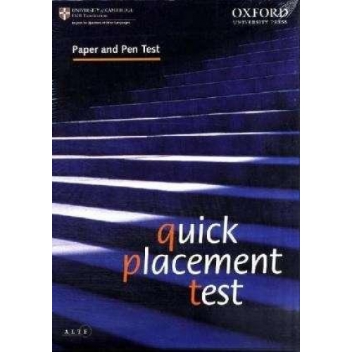QUICK PLACEMENT TEST PAPER AND PEN VERSION PACK