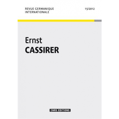 Revue germanique n15-Ernst cassirer