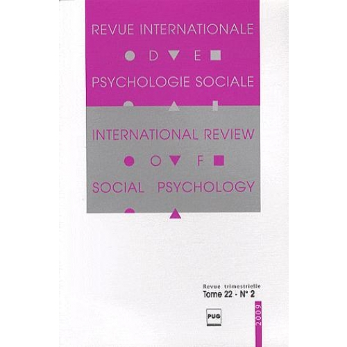 Revue Internationale de Psychologie Sociale N° 22-2, 2009