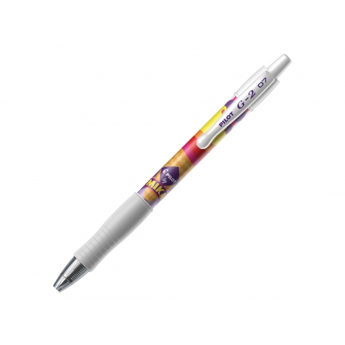 EDITION LIMITEE MIKA- Stylo-roller gel - G-2 - rétractable - pointe moyenne - violet