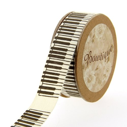 Ruban de Coton 5mx20mm - Pianos - Distrifil