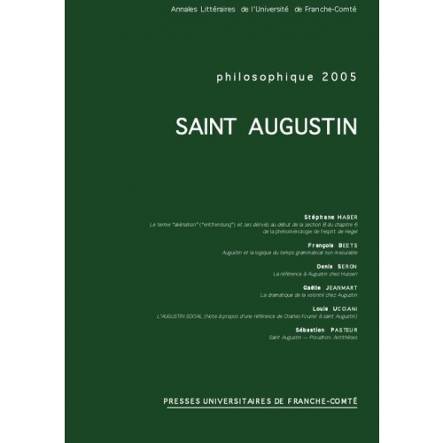 Philosophique 2005 - Saint Augustin