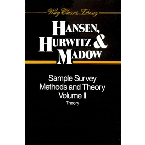 SAMPLE SURVEY METHODS AND THEORY. Volume 2