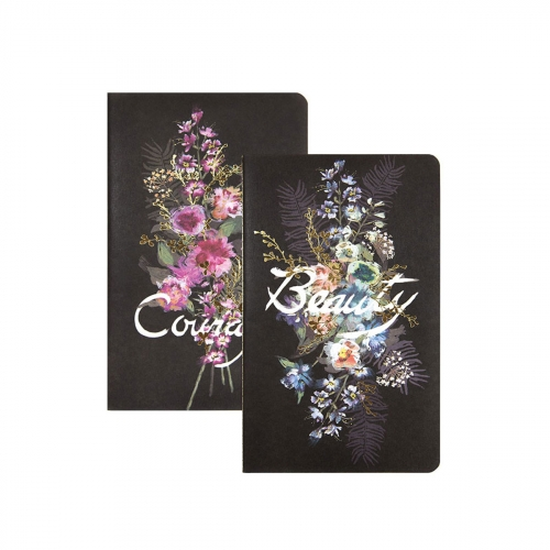Set 2 carnets  Papaya Beauty Bouquet - 21x13 cm