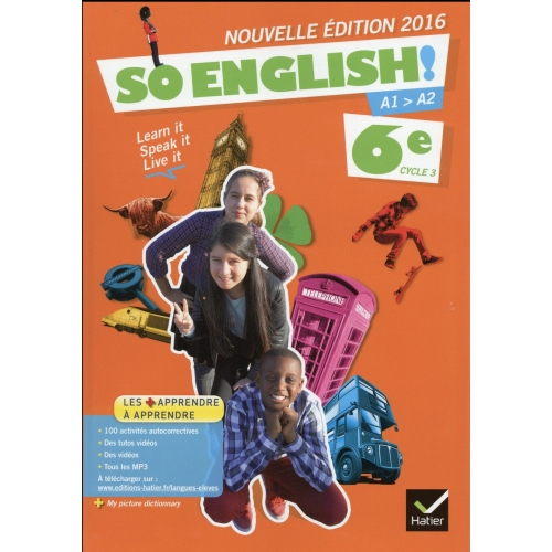 Anglais 6e Cycle 3 So English