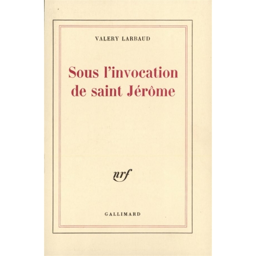 Sous l'invocation de Saint Jerome