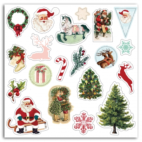 20 stickers puffy Dear Santa - Toga