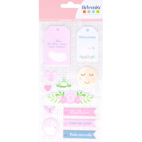 Planche stickets Puffy XL - Lovely Swan
