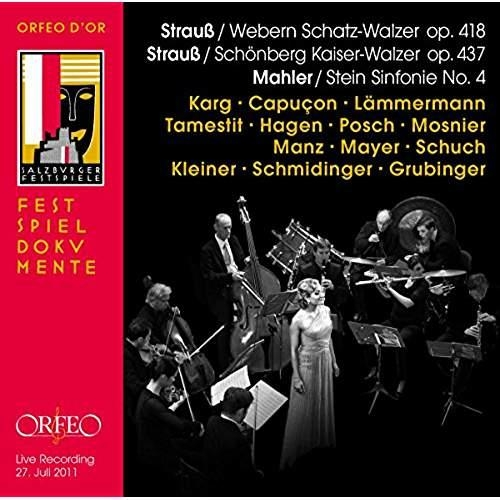 STRAUSS, WEBERN, SCHOENBERG, MAHLER - ALL STAR RECITAL SALZBURG FESTIVAL, JUNE 2
