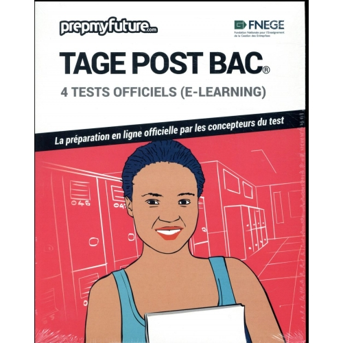 Tage post bac® - 4 tests officiels (e-learning). Contient 1 clé d'activation