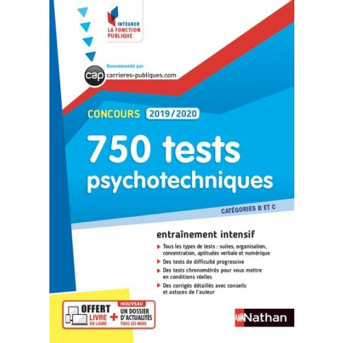 750 TESTS PSYCHOTECHNIQUES