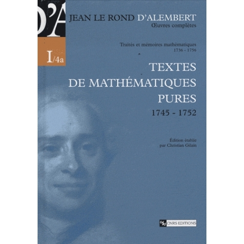 Oeuvres complètes Tome 1/4a - Oeuvres complètes