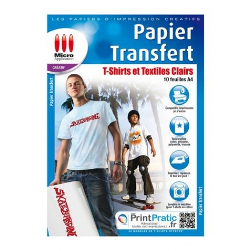 Papier transfert textiles clairs - Micro Application