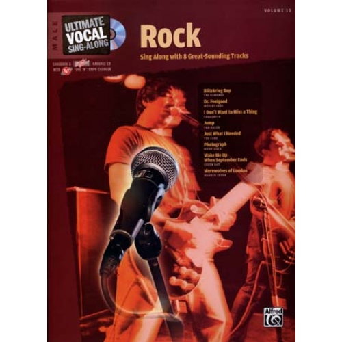 ULTIMATE VOCAL VOL.10 ROCK 8 TRACKS MALE CD