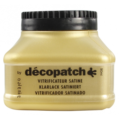 Vernis vitrificateur - aquapro satiné - 90ml - Décopatch