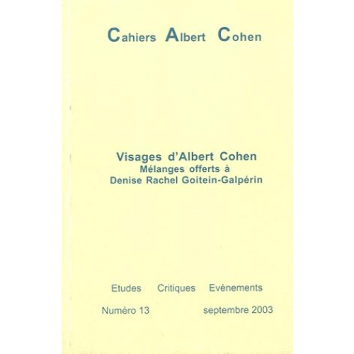 Visages d'Albert Cohen