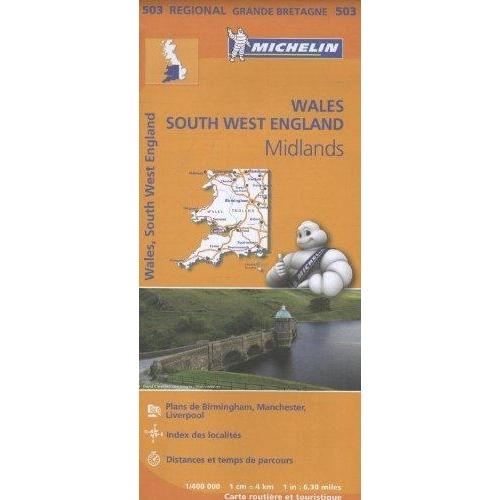 Wales, South West England, Midlands - 1/400 000