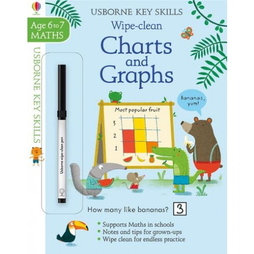 WIPE-CLEAN CHARTS AND GRAPHS