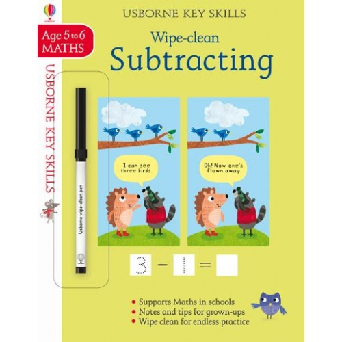 Wipe-Clean - Subtracting - Key Skills - Age 5 to 6