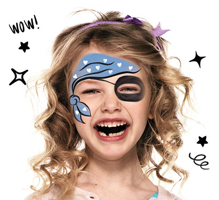 Carnaval , Maquillage Pirate Fille