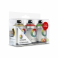 Coffret Montana Colors - 3 bombes Water Based 100 - 3x100ml  - rouge, or et blanc