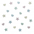 Lot boutons - micro formes pastel