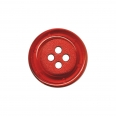 Bouton clown translucide - rouge  - 34mm
