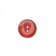 Bouton 2 trous - rouge - 30mm