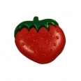 Bouton fraise - rouge - 14mm
