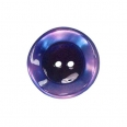 Bouton polyester - parme - 22mm