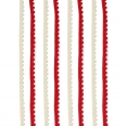 Ficelle pompon - rouge/blanc - 2x2m - Cultura Collection