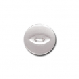 Bouton fish eye - blanc  - 12mm