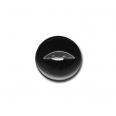 Bouton fish eye - noir  - 12mm