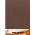 Feuille papier mousse A4 2mm marron