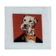 Kit canevas - 15x15 cm - le fox terrier