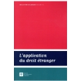 L'APPLICATION DU DROIT ÉTRANGER
