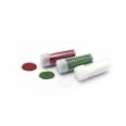 3 tubes de paillettes rouge/vert/blanc - Cultura Collection