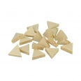 20 perles «triangle» en bois - 17 x 19 x 4,7mm - Lucy