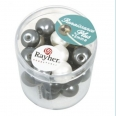 Perles Renaissance 10mm - Mix gris