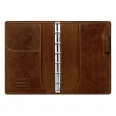 Agenda Lockwood cuir - Format pocket slim - Cognac