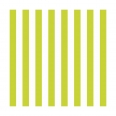 20 serviettes - stripes summer green - 33x33cm