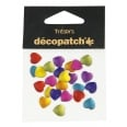 Set 24 cabochons cœurs 1 cm - Flashy