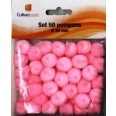 Set 50 pompons diamètre 20mm rose