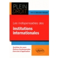 Les indispensables du Droit des institutions internationales